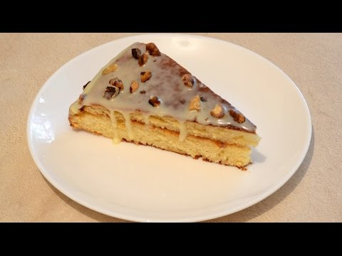 """Бисквитный торт """"Идеал"""" со сгущенкой.Очень вкусный торт со сгущенкой!"""