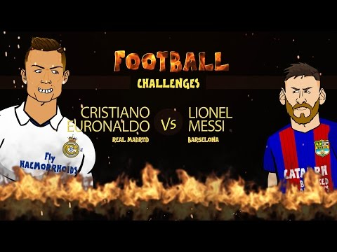 RONALDO vs MESSI: Football Challenges! (Advent Day 22)