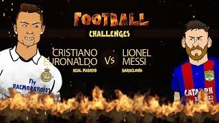 RONALDO vs MESSI: Football Challenges! (Advent Day 22)