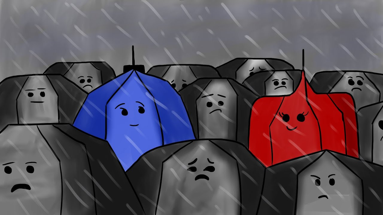 Blue Umbrella Painting Blue Umbrella Fan Art Speed