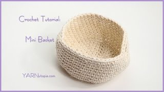 How to Crochet a Simple Mini Basket