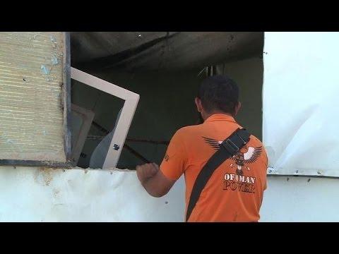 Gaza residents inspect Israeli airstrike damage