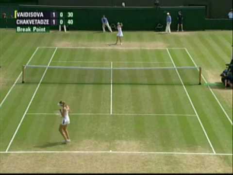 2008 Wimbledon 4th round:N.Vaidisova-A.Chakvetadze Highlights