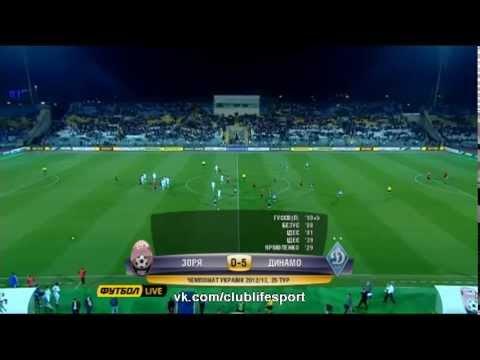 Заря 0-5 Динамо Киев