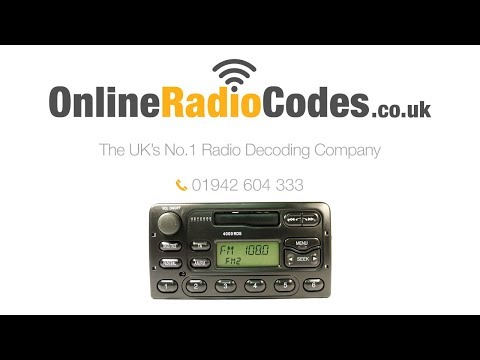 🚗    Ford 4000 RDS Radio Code 4000 Stereo PIN Unlock Codes