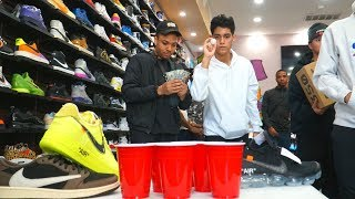 CUP PONG CHALLENGE FOR ANYTHING IN THE STORE!!!!