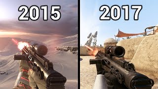 Weapon Comparison | Battlefront (2015) vs Battlefront 2 (2017) Graphics and Sounds