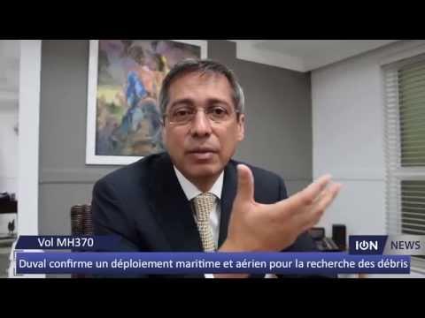 Duval confirme un déploiement maritime et aérien pour la recherche des débris