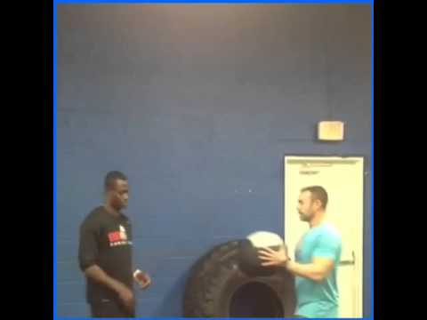 Pierre Desir works on Anti Rotation Core Stability