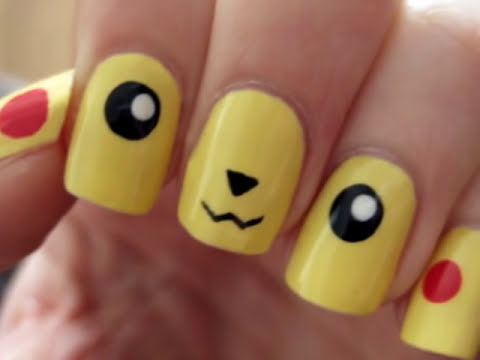 Pokemon: Pikachu Nail Art