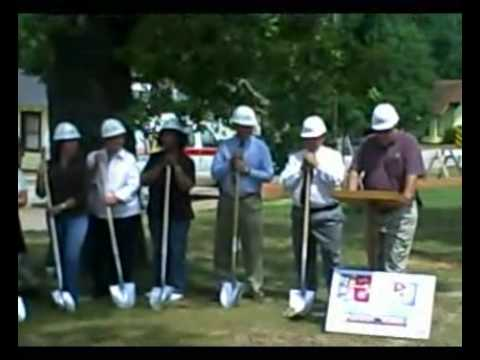 Groundbreaking for the Lafayette Co. Jail in Lewisville, Arkansas (August 22, 2007).
