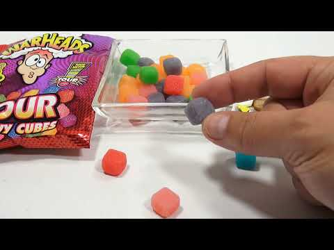War Heads Sour Chewy Cubes Candy, Six Assorted Flavors