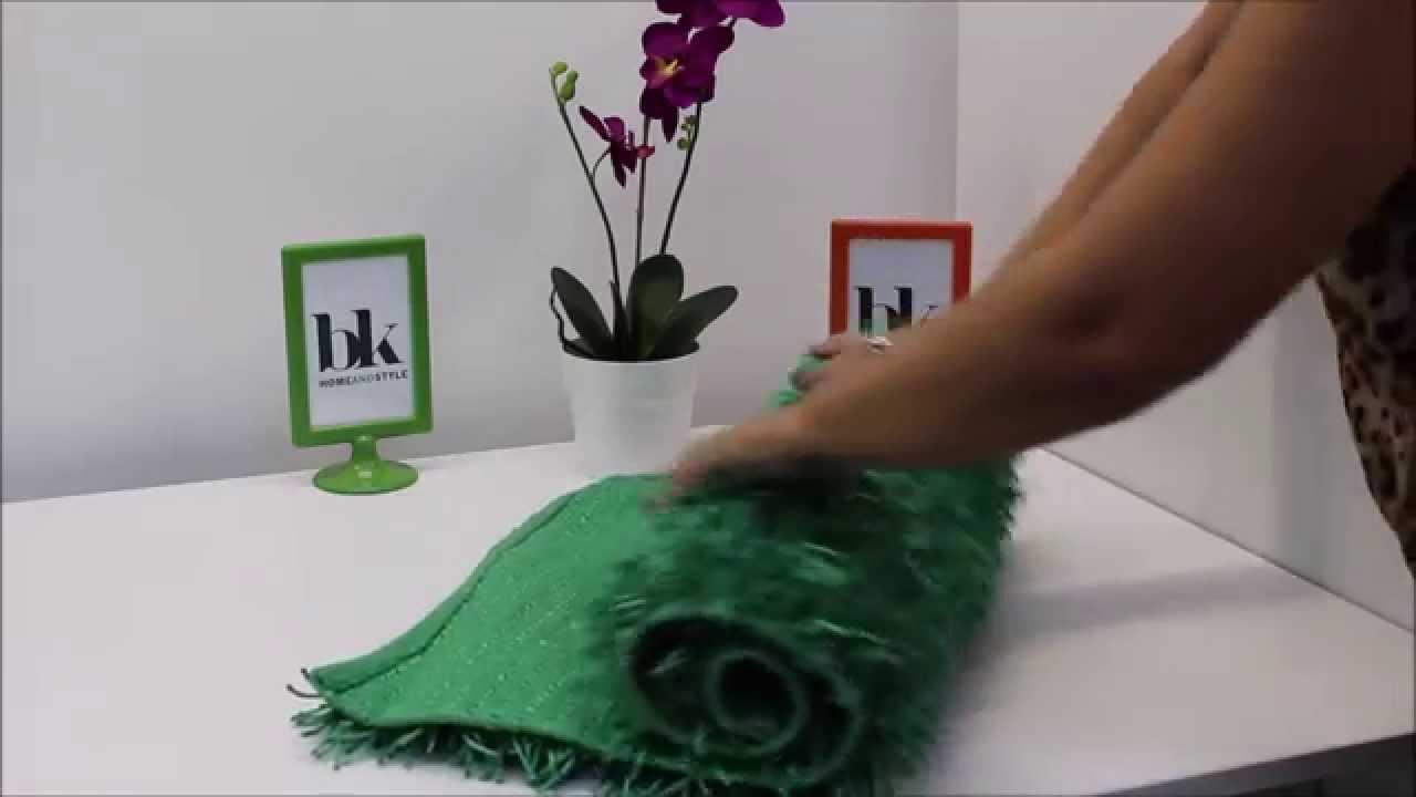 Alfombra para ba o y dormitorios roche verde youtube - Alfombras de bano ...