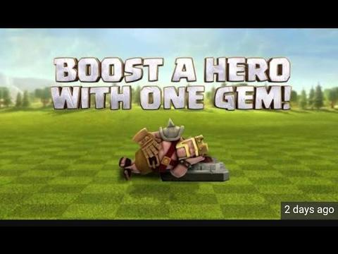 Valentine day 1 gem hero boost-Clash of Clans