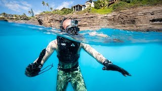 Exploring Dangerous Spitting Caves For Lost iPhones, GoPros!! (Hawaiian Cliffs)