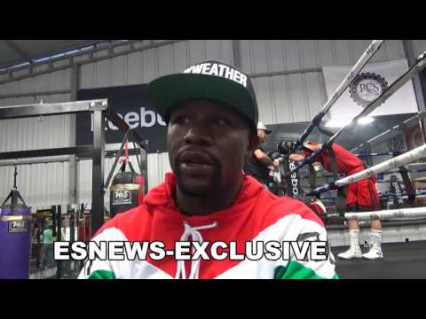 floyd mayweather watching mikey garcia sparring backs Canelo-in-GGG fight EsNews Boxing