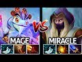 Miracle Invoker VS Mage Puck Epic Mid Lane Battle 7.21 Dota 2