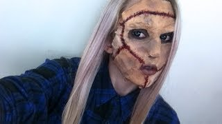 Leather Face Halloween Tutorial