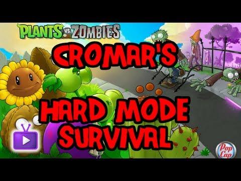 ★ Plants vs. Zombies - Hard Mode Survival (Pool): No Water Plants ft. Cromar - WAY➚