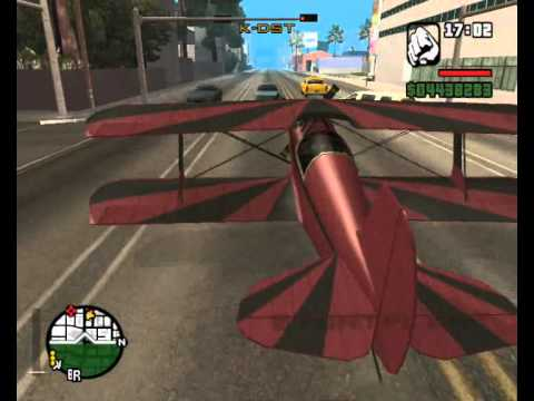 GTA san adreas how to fly a hydra ,stunt plane and some cheats