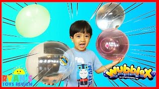 Ryan plays WUBBLEX ANTI GRAVITY BALL Toys Balloons for kids