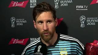 Lionel MESSI (Argentina) - Man of the Match - MATCH 39