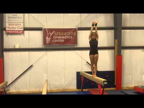 Back handspring on Beam