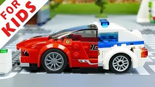 Lego Wrong Cars Brick Building Animation for Kids