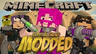 Minecraft MODDED SURVIVAL GAMES with LASER GUNS! Ft. Sky, Seto and Ross!