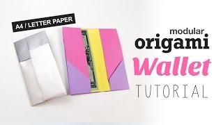 Modular Origami Wallet Tutorial ♥︎ DIY ♥︎ Easy ♥︎