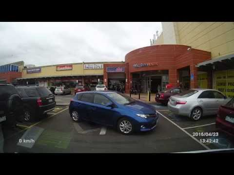 idiot trying to park.