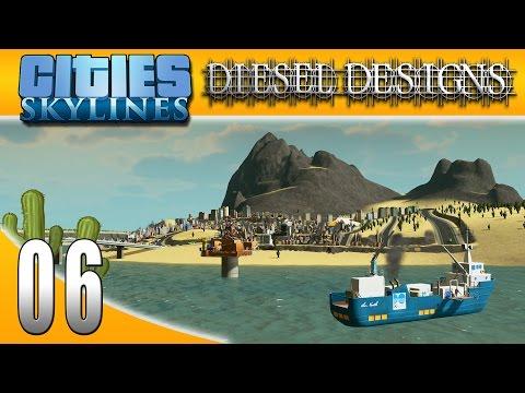 Cities: Skylines: S3EP6: Oil Industry Island! (City Building Series 60FPS)