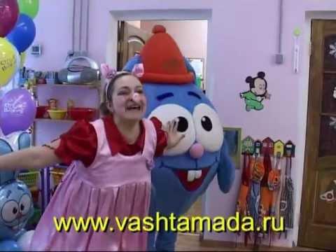 Веселые шарики Зайчик и Хрюшка на детском празднике