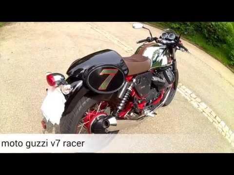 Moto Guzzi V7 Racer mistral exhaust sound test