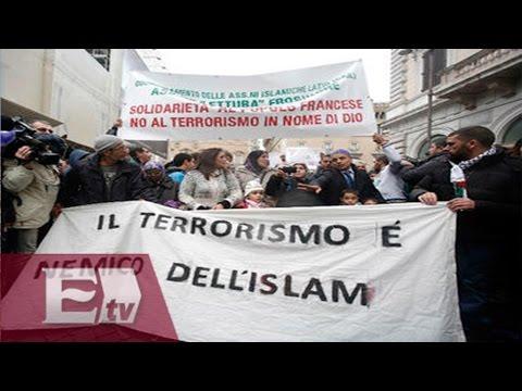Musulmanes se manifiestan en Italia y condenan el terrorismo / Hiram Hurtado