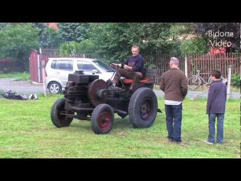 Deutz Eigenbau-Traktor mit Standmotor - selfmade mini tractor