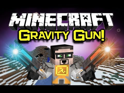 Minecraft: GRAVITY GUN MOD Spotlight The Perfect Tool Minecraft Mod Showcase