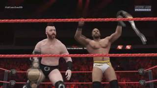 WWE Raw 2016 - Cesaro & Sheamus VS New Day (WWE TagTeam Championship) Match HD