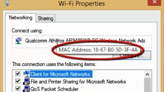 Easy way to find MAC Address of Network Devices (Wi-Fi/ Bluetooth/ Ethernet) in Windows 8 1