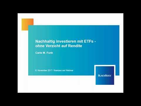 Nachhaltig investieren mit ETFs - ohne Verzicht auf Rendite