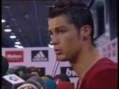 Cristiano e Higuain hablan despues del partido contra el Barça