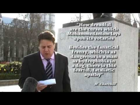 Nick Griffin discusses Winston Churchill 25 03 2009