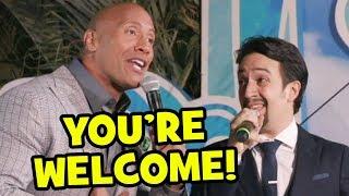 "download lagu ""you're Welcome"" Live By Dwayne Johnson & Lin-manuel Miranda gratis"