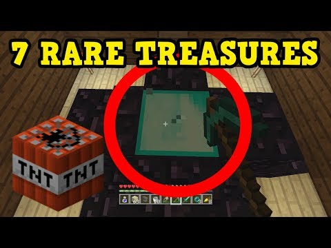 Minecraft Xbox / PE - 7 RARE TREASURES In Woodland Mansions