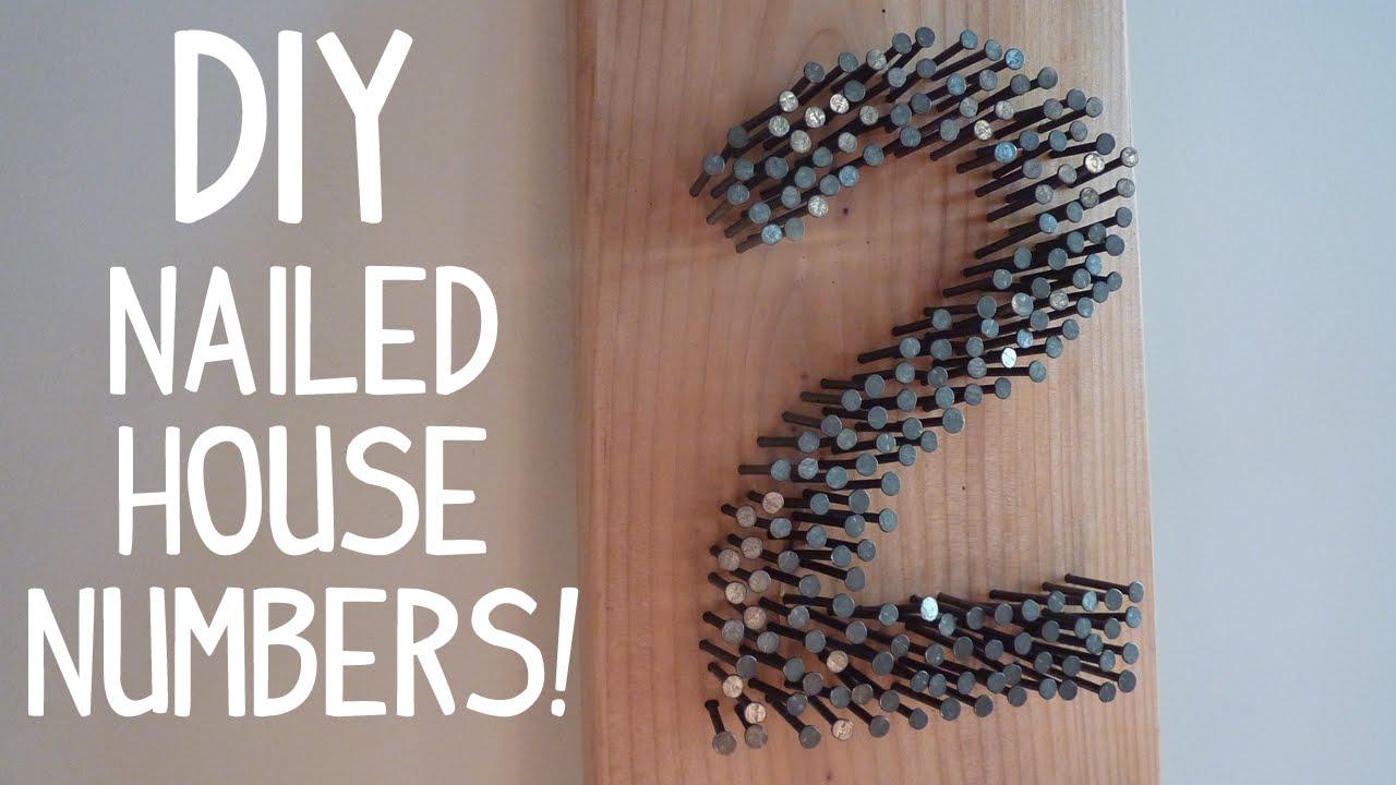 nailed it  diy rustic modern house numbers
