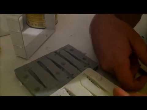Forma de Resina copiando iscas artificiais (Camarão) parte 2