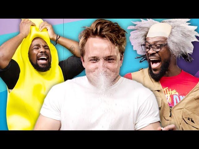 Try Not To Laugh Challenge #33 w/ WWE's New Day (Xavier Woods & Kofi Kingston) thumbnail