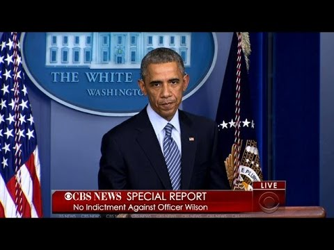President Obama Discusses The Grand Jury Decision In The Michael Brown Case