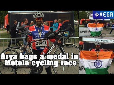 Arya bags a medal in Motala cycling race : Latest Tamil Film News