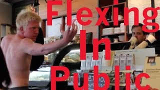 Flexing in Public Prank